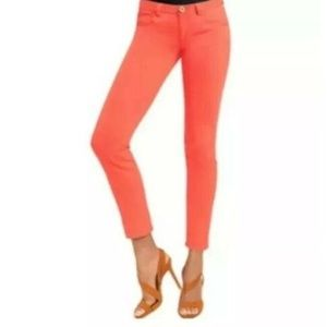 CAbi  Skinny Jeans Size 4 Coral Style 747